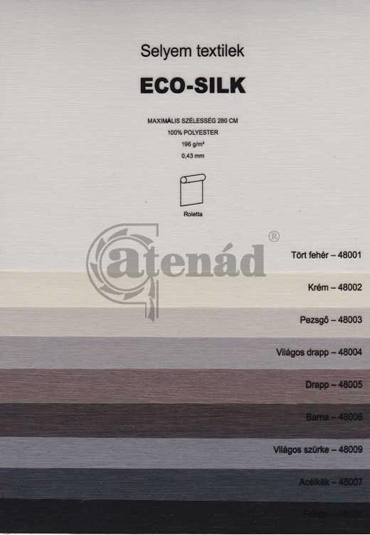 Eco-silk roletta színek