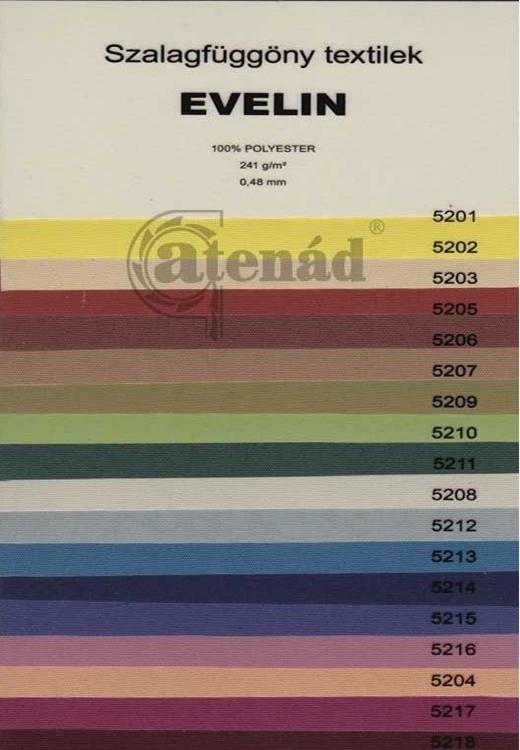 Evelin szalagfüggöny színek