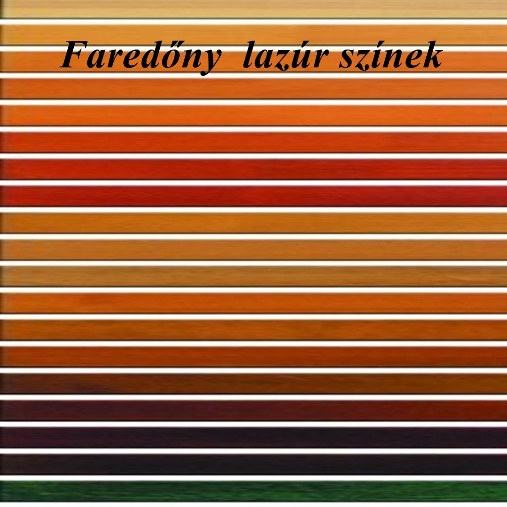 Faredőny színek