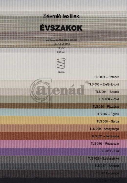 Sávroló színminta - Évszakok textilek