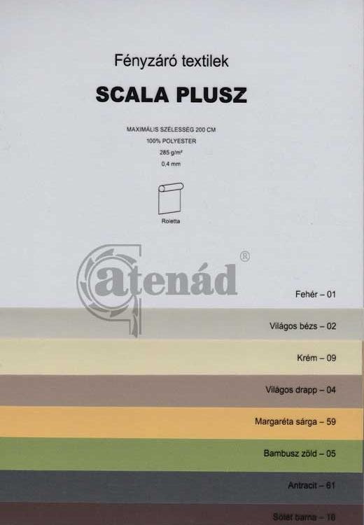 Scala plus roletta színek