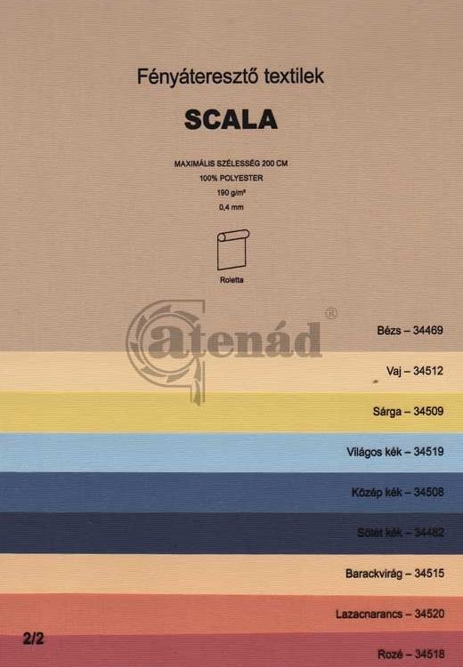 Scala_1 roletta színek
